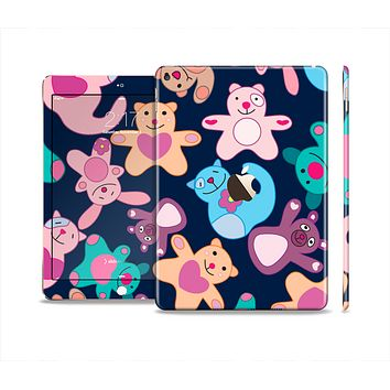 The Stuffed Vector Color-Bears Skin Set for the Apple iPad Pro