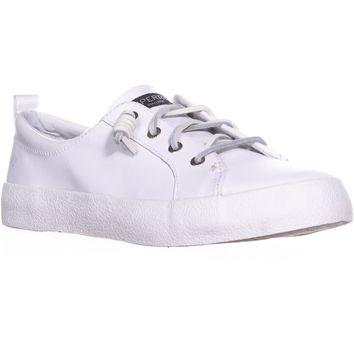 Sperry Top-Sider Crest Vibe Lace Up Fashion Sneakers, White, 7.5 US