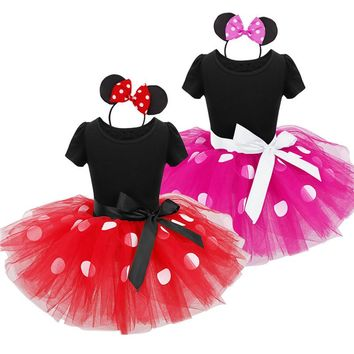 minnie mouse princess party costume infant clothing Polka dot baby tutu