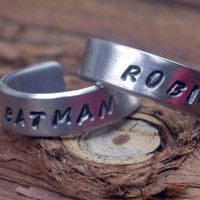 Couples Ring - Batman and Robin //// Best Friend Rings