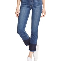 PAIGEJacqueline Straight Block Hem Jeans in Sherwood