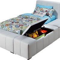 Zoey White 4 Pc Twin Storage Bed