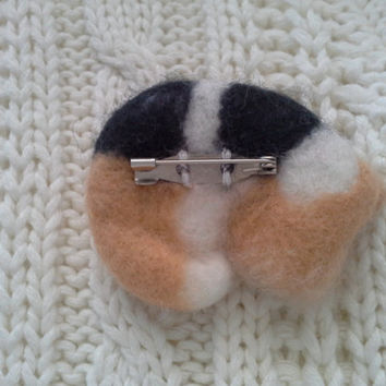 Two Felted Miniature Dogs gift idea, Gifts for kids, Felt Brooch, Gift Needle Felted Wool Jewelry, Mini dog, Felted puppy, Miniature felt