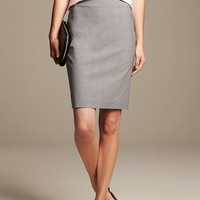 Banana Republic Womens Gray Lightweight Wool Pencil Skirt
