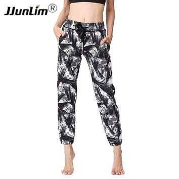 Printed Women Yoga Pants High Waist Sports Yoga Pants Workout Fitness Sports Trousers Women Yoga Trousers Loose Running Pants