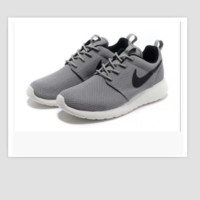 NIKE Women Men Running Sport Casual Shoes Sneakers Grey