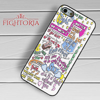 One direction 1D Half a Heart Lyric Art Case -stl for iPhone 4/4S/5/5S/5C/6/6+,samsung S3/S4/S5/S6 Regular/S6 Edge,samsung note 3/4