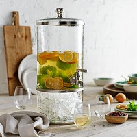 Pebbled Glass Drink Dispenser