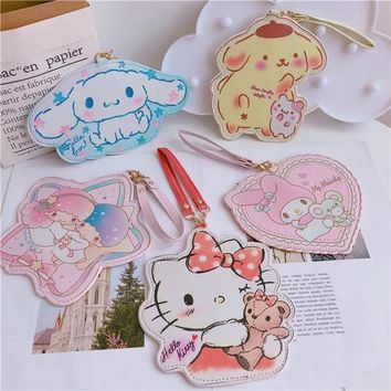 Cartoon pattern Cute Hello Kitty My Melody Big Ears Cinnamoroll Dog Egg Pudding for Card package
