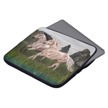 Buckskin and Palomino Horse Laptop Computer Sleeves