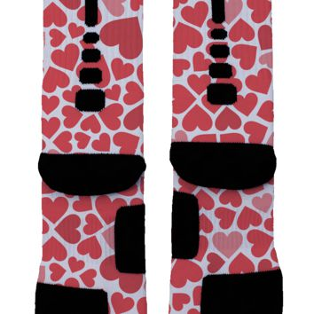Hearts Galore Custom Nike Elite Socks