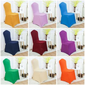 30 Colours Spandex chair cover lycra cover for chair dining chair cover wedding banquet party decoration stretch cover