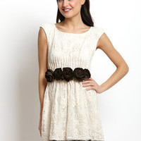 ideeli | RYU Rosette Empire Waist Dress