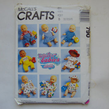 McCalls Craft 790 Water Babies Doll Clothes Sewing Pattern McCall's UNCUT