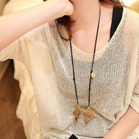 Oversize Pure Color Blouse for Women