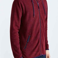 BDG Polar Fleece Zip Hooded Sweatshirt-