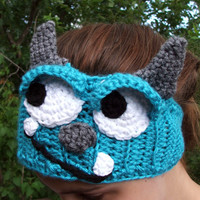 Crochet Monsters Inc. Inspired Head Warmer. Sully. Sullivan. Ear Warmer. Headband. Made By Bead Gs on ETSY. Blue Monster.