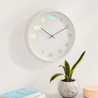 Ingrid Iridescent Clock | Urban Outfitters