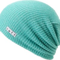 Neff Daily Sparkle Turquoise & Silver Slouchy Beanie