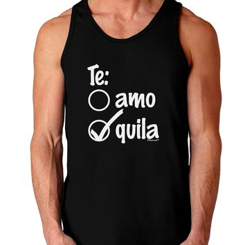 Tequila Checkmark Design Dark Loose Tank Top  by TooLoud