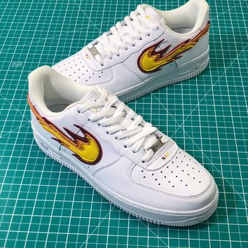Nike Air Force 1 Af1 Low Flame Logo Sport Fashion Shoes - Best Online Sale