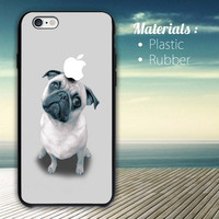 Dog Puppy Pug iPhone 4/4S, 5/5S, 5C, 6 Series Hard Plastic Case