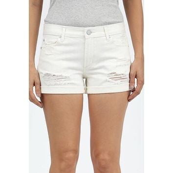 "Articles Of Society ""Behy Boyfriend Shorts""- White"