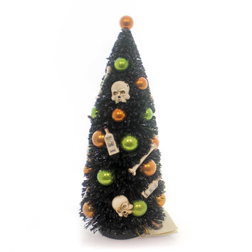 Halloween Bottles And Bones Bottle Brush Tree Halloween Decor