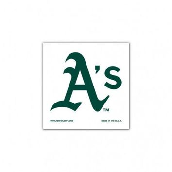 ONETOW MLB Oakland A's Face Tattoos