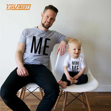 New Family Look ME and MINI ME Pattern Summer Family Men Boy T shirt Father and Son Clothes Top Tee 2017 Family Matching Outfits