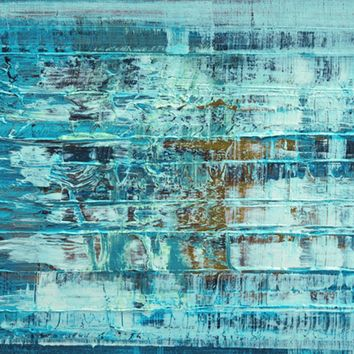Turquoise Abstract C. Tice Art Print