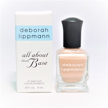 Deborah Lippmann All About That Base CC Base Coat, 0.5 fl oz / 15 ml