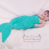 INSTANT DOWNLOAD Crochet Mermaid Photo Prop Pattern PDF (Under the Sea)