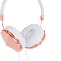 Frends - Taylor leather and rose gold-tone headphones
