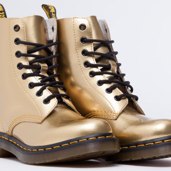 Dr. Martens Pascal in Gold Spectra Patent at Solestruck.com
