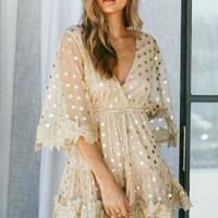 Champagne Showers Gold Party Dress