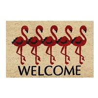 Flamingo Welcome Coir Door Mat