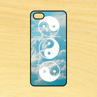 Yin Yang Clouds Phone Case iPhone 4 / 4s / 5 / 5s / 5c /6 / 6s /6+ Apple Samsung Galaxy S3 / S4 / S5 / S6