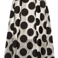Lela Rose - Polka-dot chiffon skirt