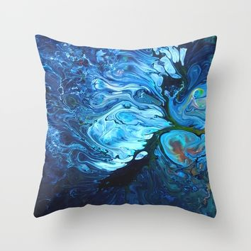 Organic.2 Throw Pillow by DuckyB