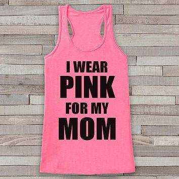 Women's Wear Pink Tank - Cancer Awareness Tank - Pink Tank Top - Pink Racerback Tank Top - Running Race Team Tanks - Fight Cancer Shirt