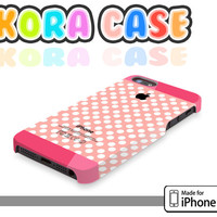 Polka dot on pink pattern - Iphone 4 cover , Iphone 4s cover , Iphone 5 cover, iphone case , polka dot iphone case , pink case