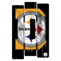 Pittsburgh Steelers Wood Fence Sign - Defence