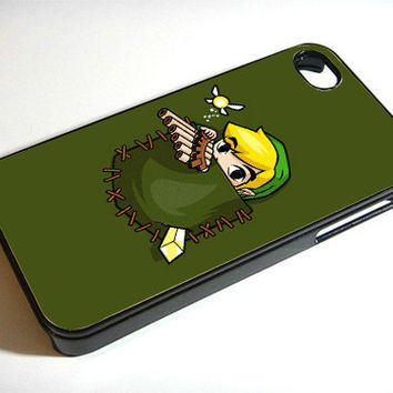 Pocket Link the Legend Of Zelda - Print on iPhone 4/4s Case - iPhone 5 Case - Samsung Galaxy S3 - Samsung Galaxy S4