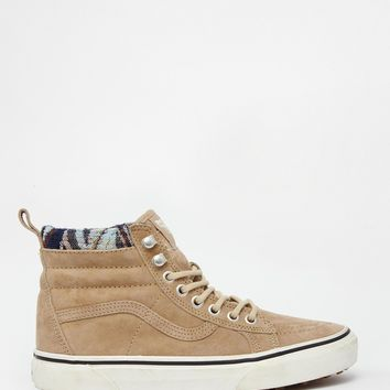 c96b55ff7a Vans SK8-Hi MTE Beige High Top Trainers from ASOS