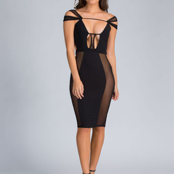 Sheer Brilliance Strappy Cut-Out Dress