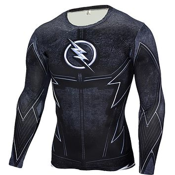 The Flash Black Panther T Shirt Men 3D Printed T-shirts Fitness Compression Shirt Long Sleeve Slim Fit Top Tees Shirt