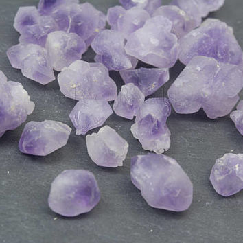 light purple amethyst gemstone loose points - no hole gemstone beads - loose natural amethyst beads - loose gems -10 pcs