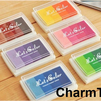 Multi-color Custom Stamp Ink Pad Oil Based waterproof for wood, fabric and paper