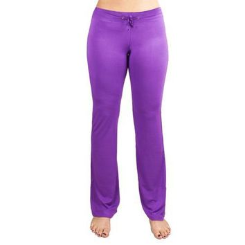 Large Purple Relaxed Fit Yoga Pants